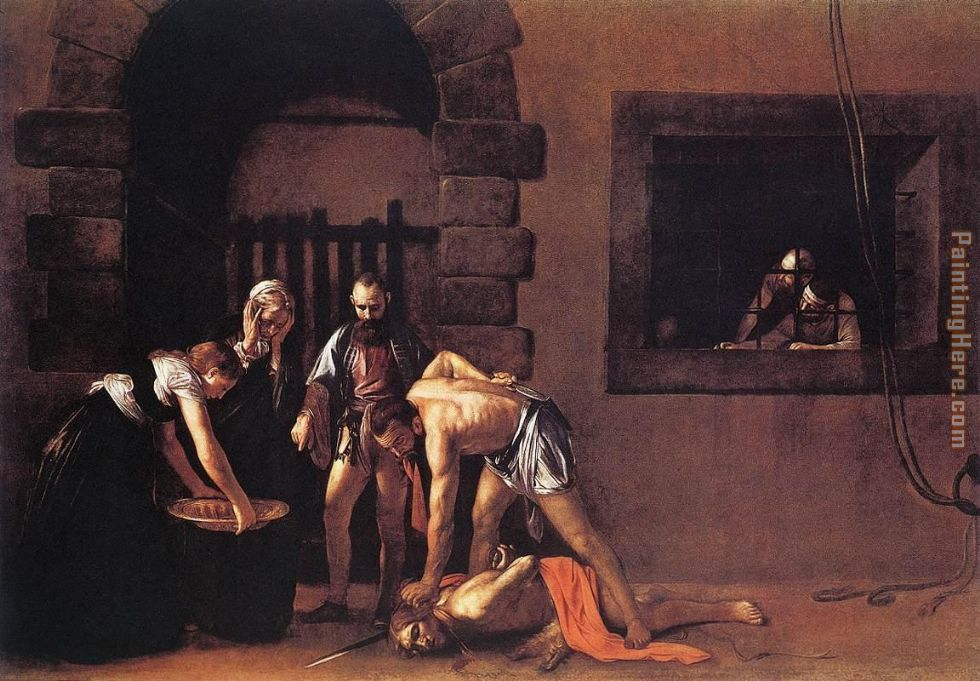 Beheading of Saint John the Baptist painting - Caravaggio Beheading of Saint John the Baptist art painting